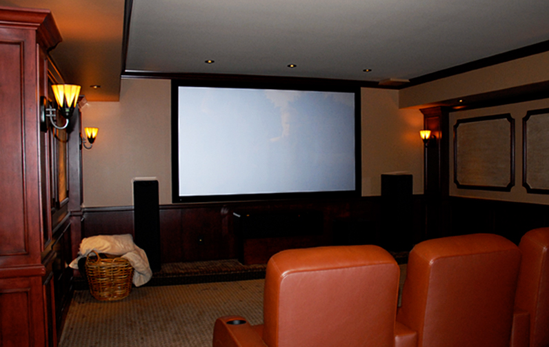 Wasserson Design Custom Home Theater Design Installation For